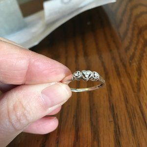 PEOPLES Sterling Silver & Diamond Promise Ring ♥